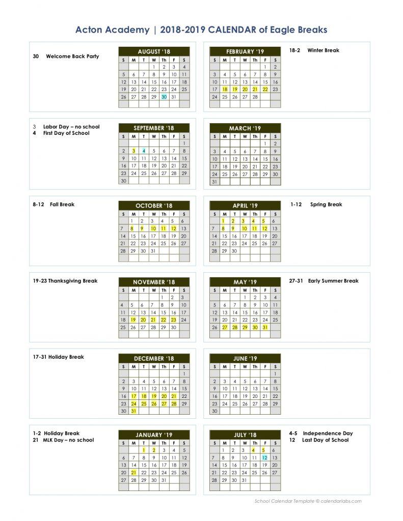 Calendar | Acton Academy Waco